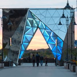 Steel & glass features for the 300th anniversary of Omsk