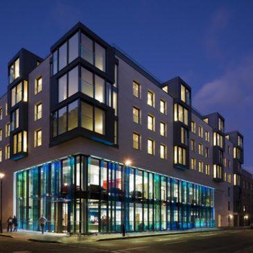 45 Bolsover Street, London- structural glass facade