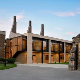 Charterhouse School, maths and science centre glass facade